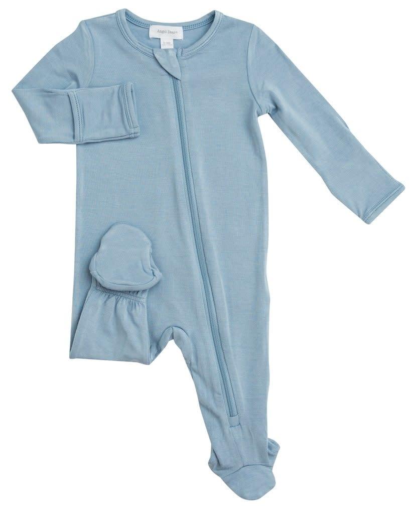 Angel Dear Basic Zipper Footie Blue-1