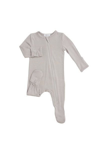 Angel Dear Basic Zipper Footie Grey