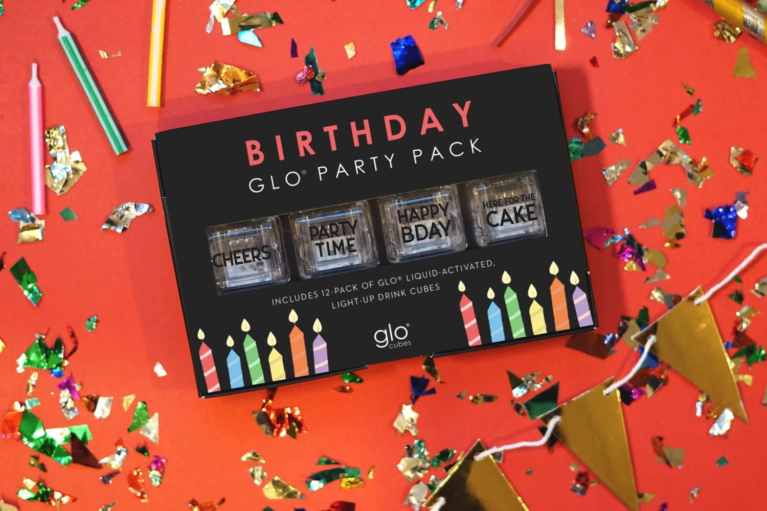 Glo Cubes Birthday 12 Pack-1