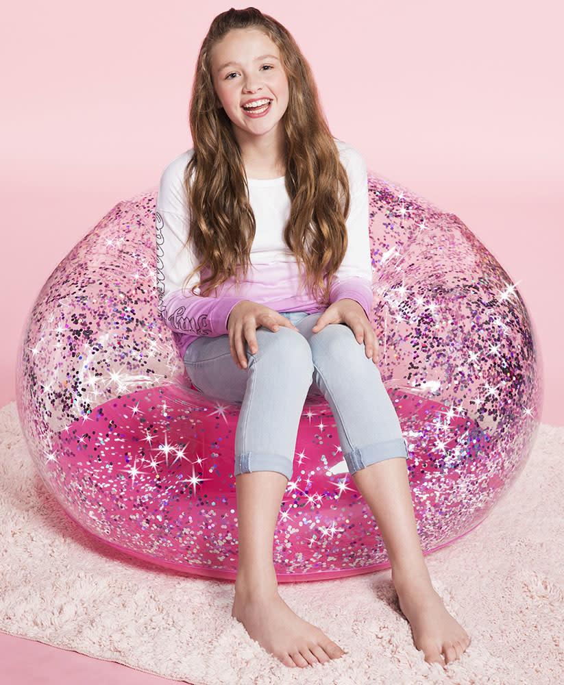 Pink Glitter Confetti Chair-2