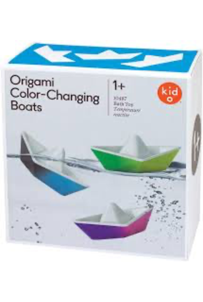 Origami Color-Changing Boats