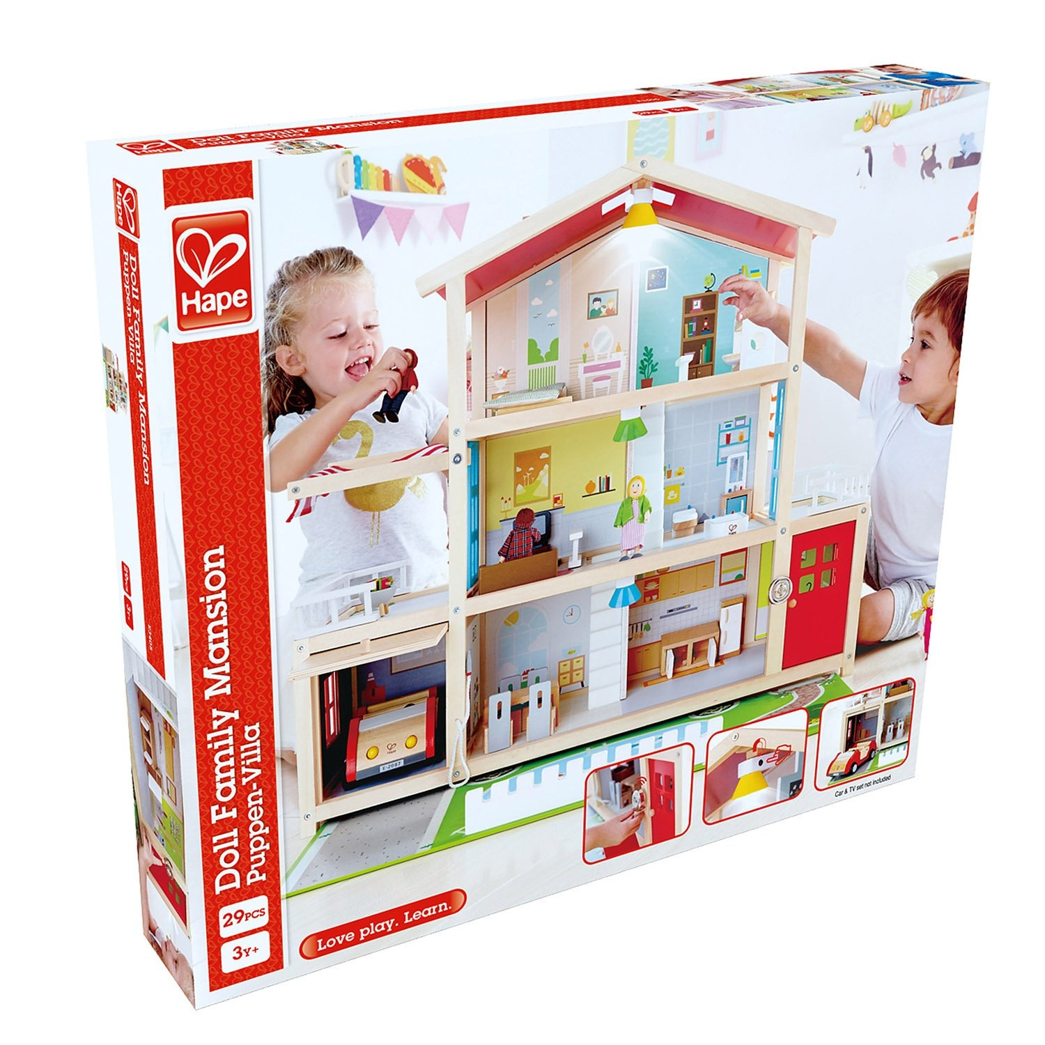 Hape Doll Family Mansion-4
