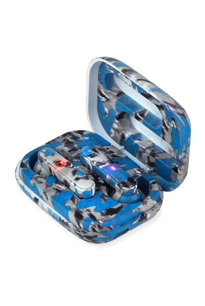 Earbuds Blue Tie Dye