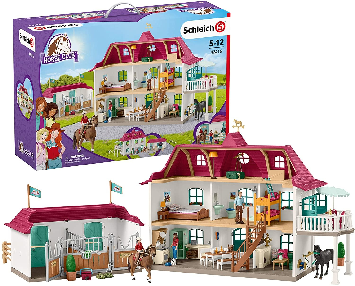 Schleich Horse Stable w/ House Large-1