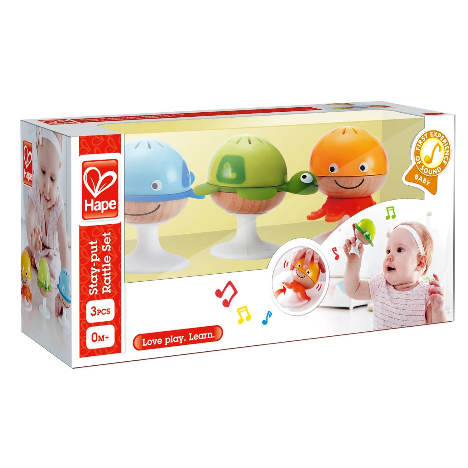 Hape Stay-Put-Rattle Set-3