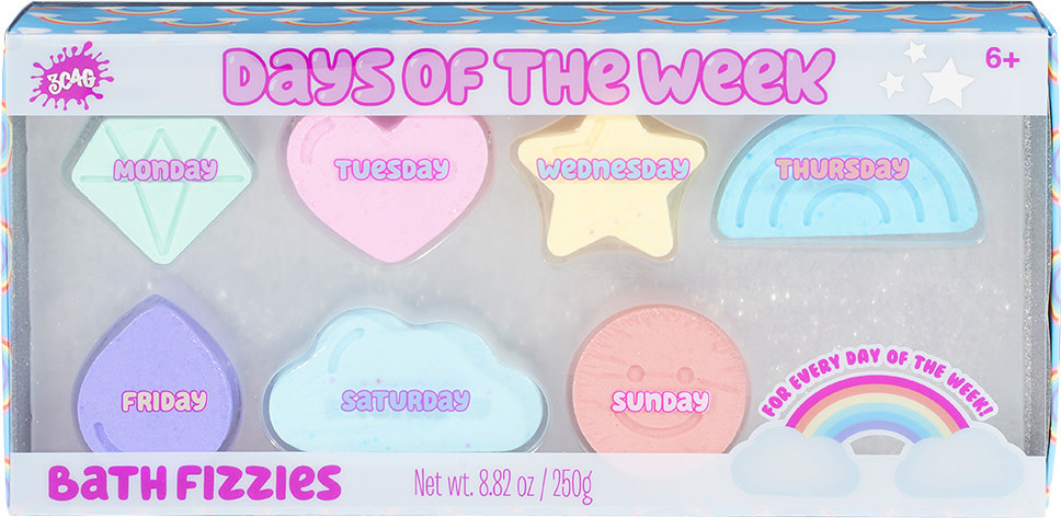 SALE 2020 Bath Fizzies Days of the Week-1