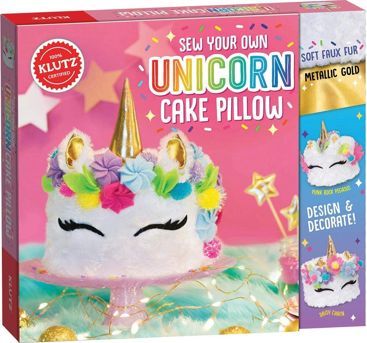 Unicorn Cake Pillow by Klutz-1