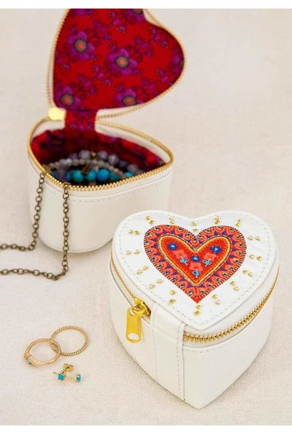 Jewelry Bag Stitched Heart