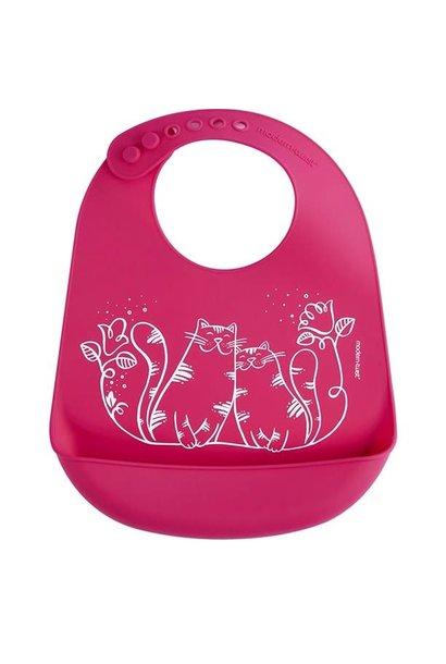 SALE 2020 Bucket Bib Kitties Magenta