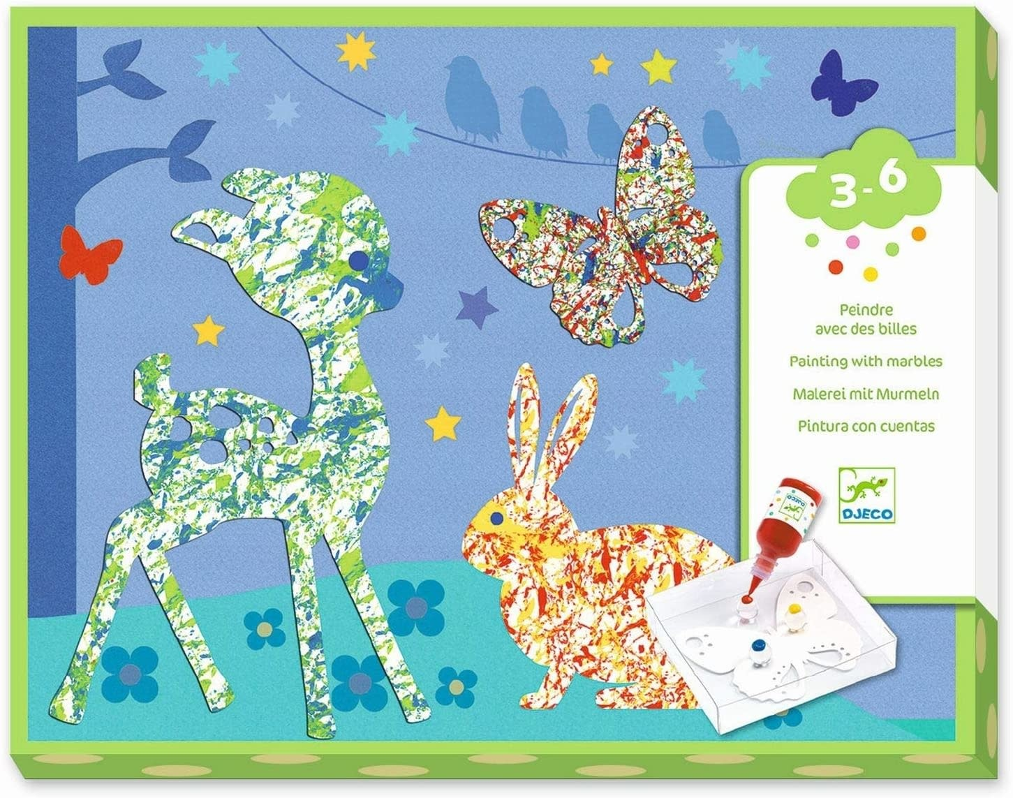 Colorful Parade Marble Painting Kit-1