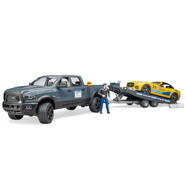 Bruder Ram Truck w/Roadster Racing Team-1