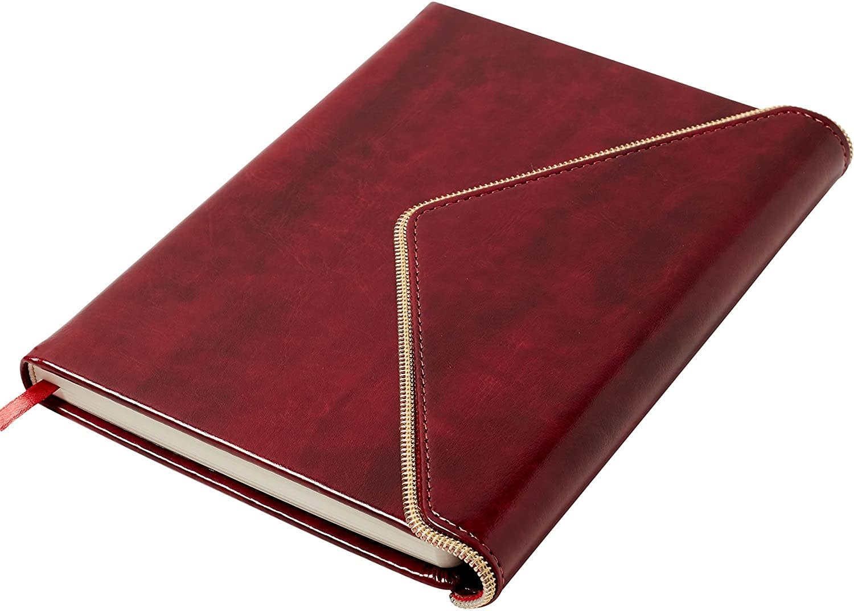 Journal Burgundy Envelope with Gold Zipper-2