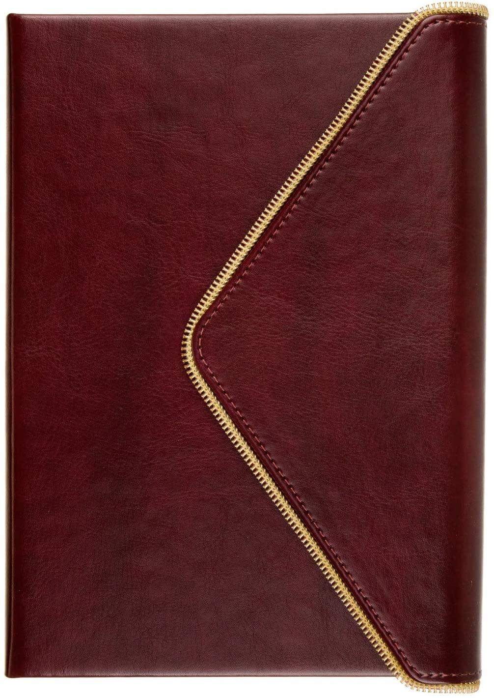Journal Burgundy Envelope with Gold Zipper-3