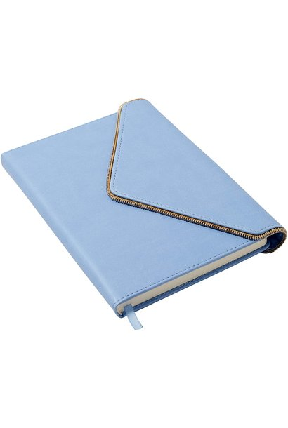 Journal Periwinkle  Envelope with Gold Zipper
