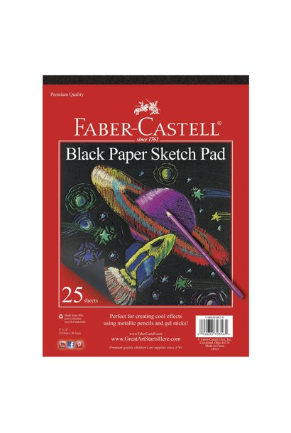 Black Paper Sketch Pad Faber