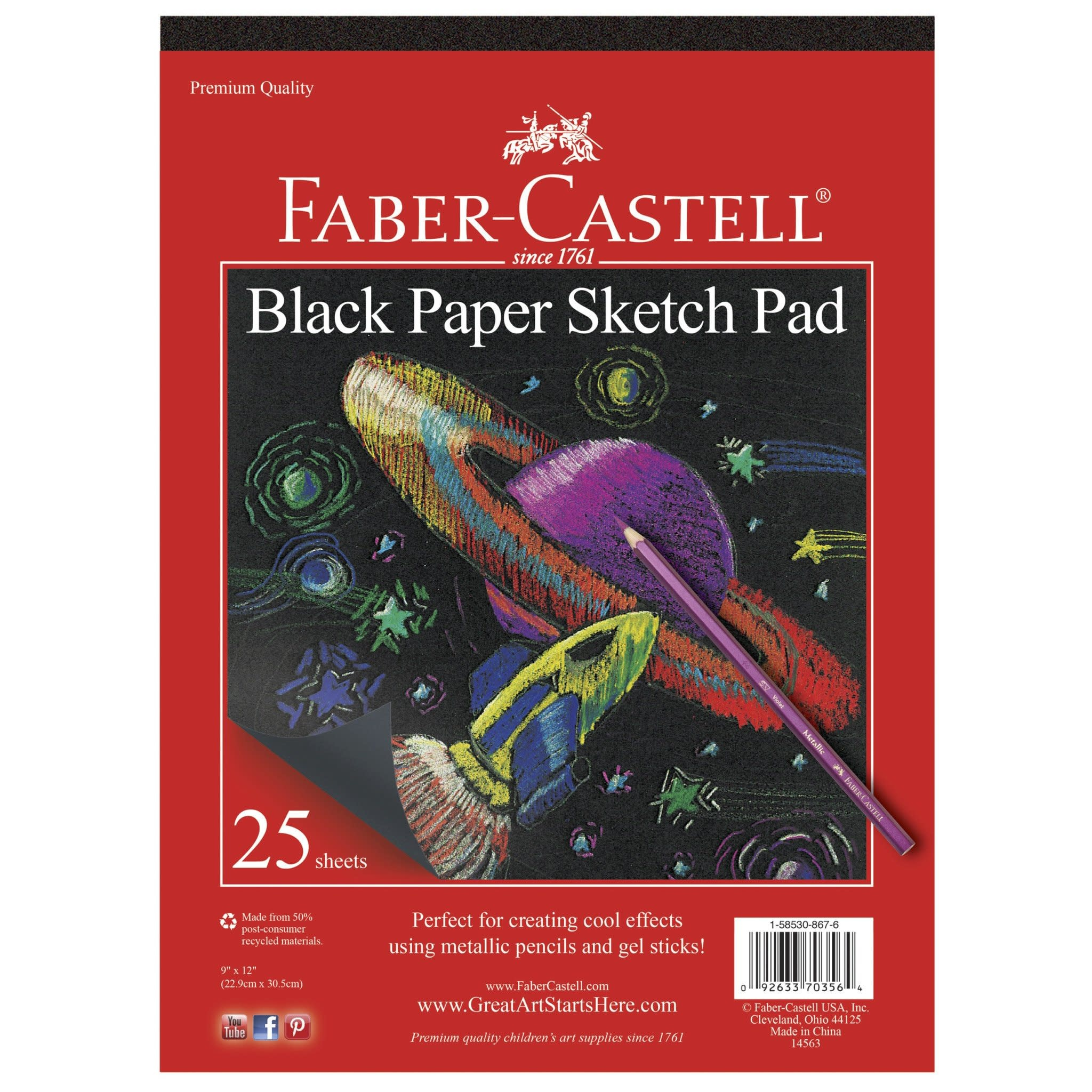 Black Paper Sketch Pad Faber-1