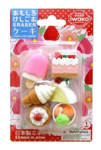 Iwako Cake & Dessert Erasers