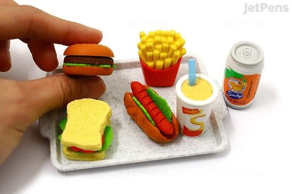 Iwako Fast Food Fun Erasers-2