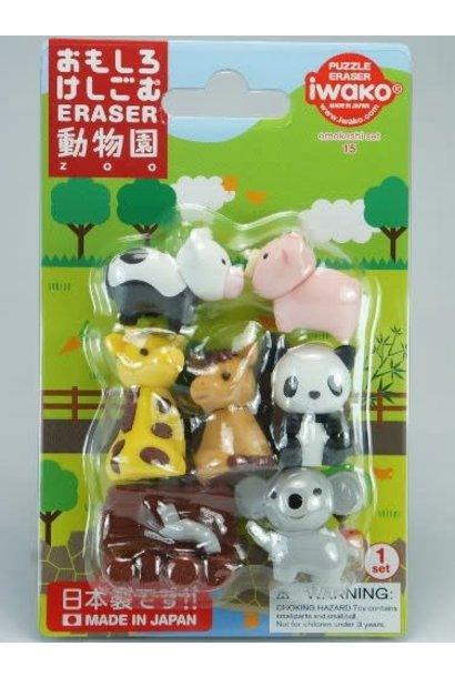Iwako Zoo Animal Erasers