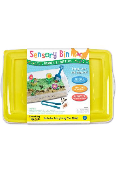 Sensory Bin Garden Critters