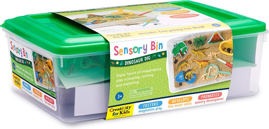 Sensory Bin Dinosaur Dig-3