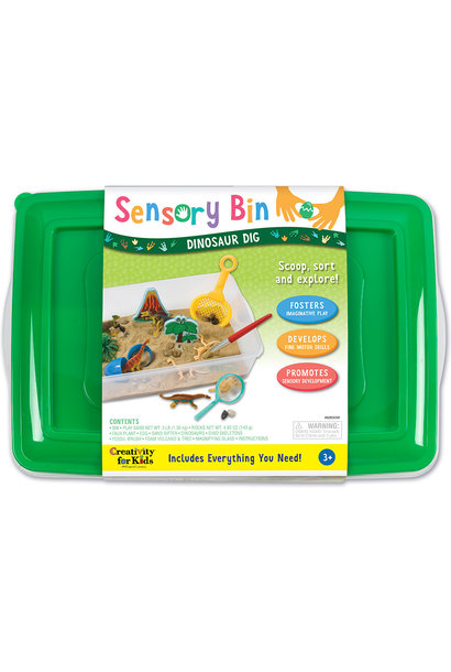 Sensory Bin Dinosaur Dig