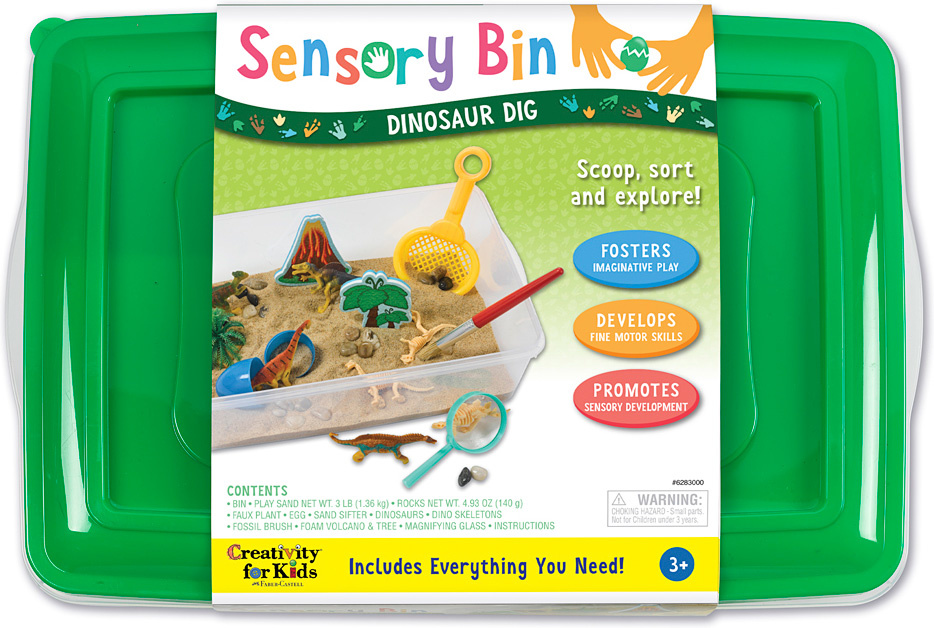 Sensory Bin Dinosaur Dig-1