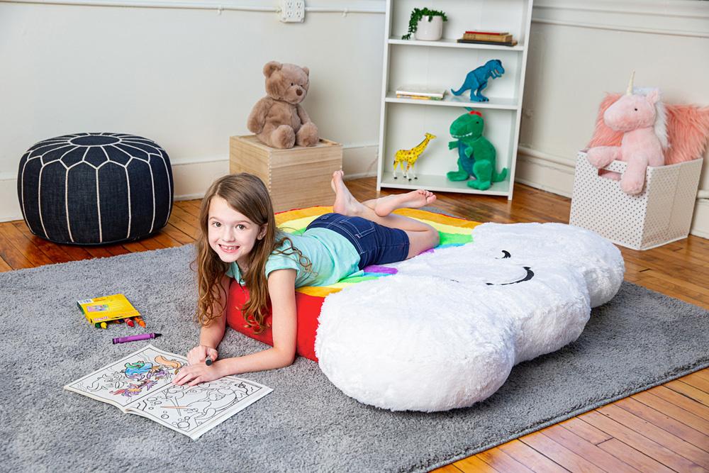 Rainbow Inflatable Floor Floatie-1