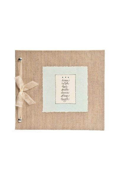 Baby Memory Book Dream Wish Love Blue