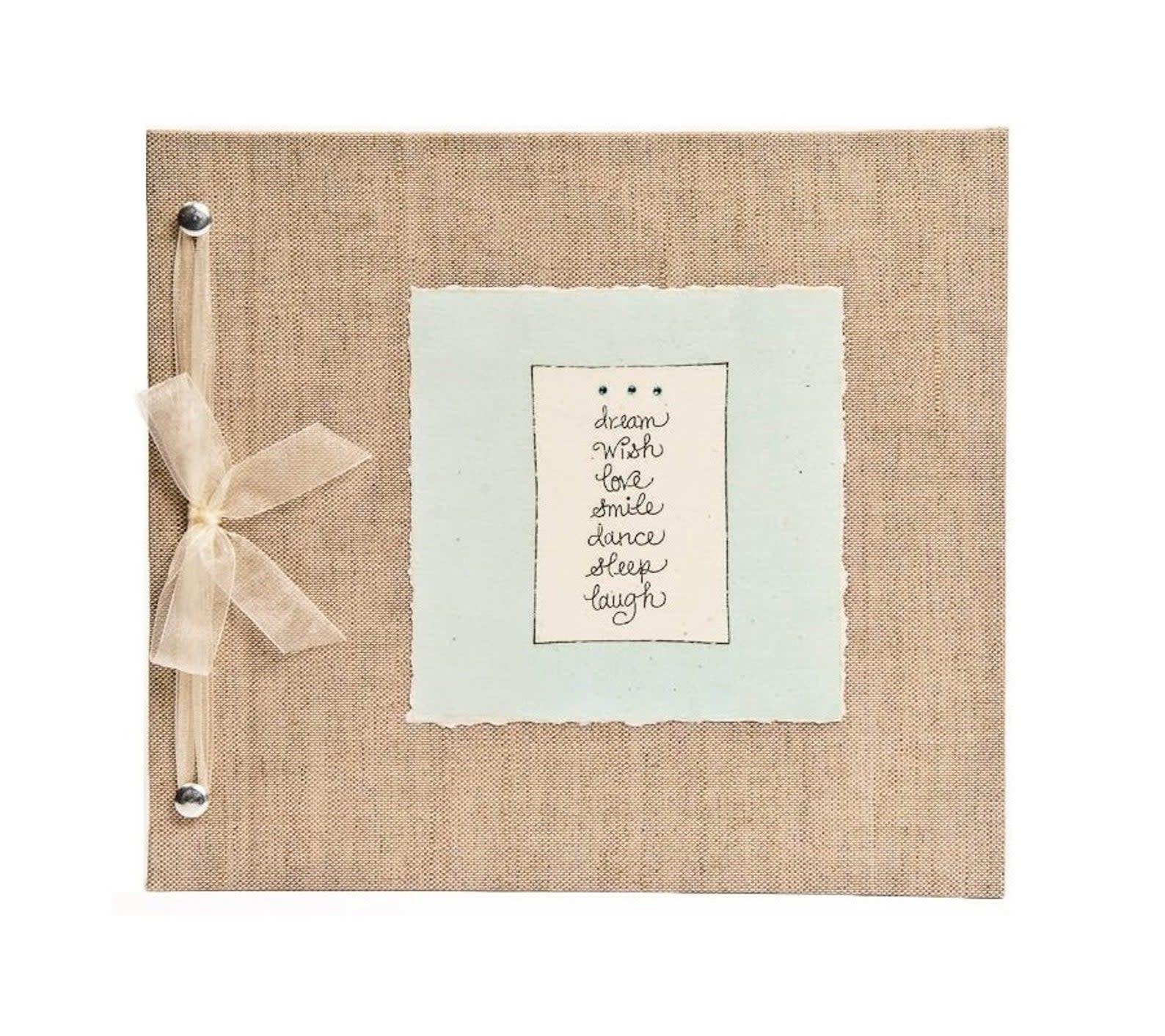 Baby Memory Book Dream Wish Love Blue-1