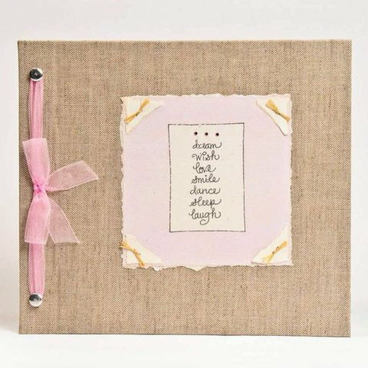 Baby Memory Book Dream Wish Love Pink-1