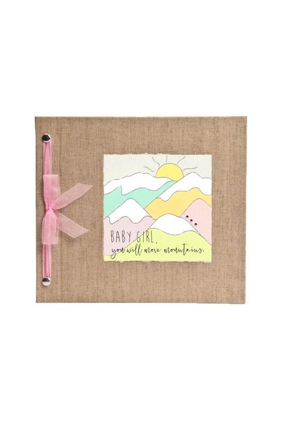 Baby Memory Book You Will Move Mountains Pink