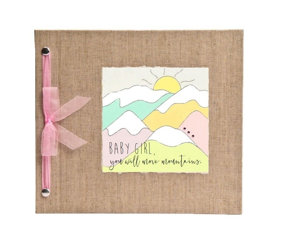 Baby Memory Book You Will Move Mountains Pink-1