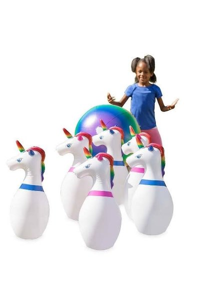 Giant Inflatable Unicorn Bowling Game