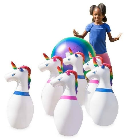 Giant Inflatable Unicorn Bowling Game-1