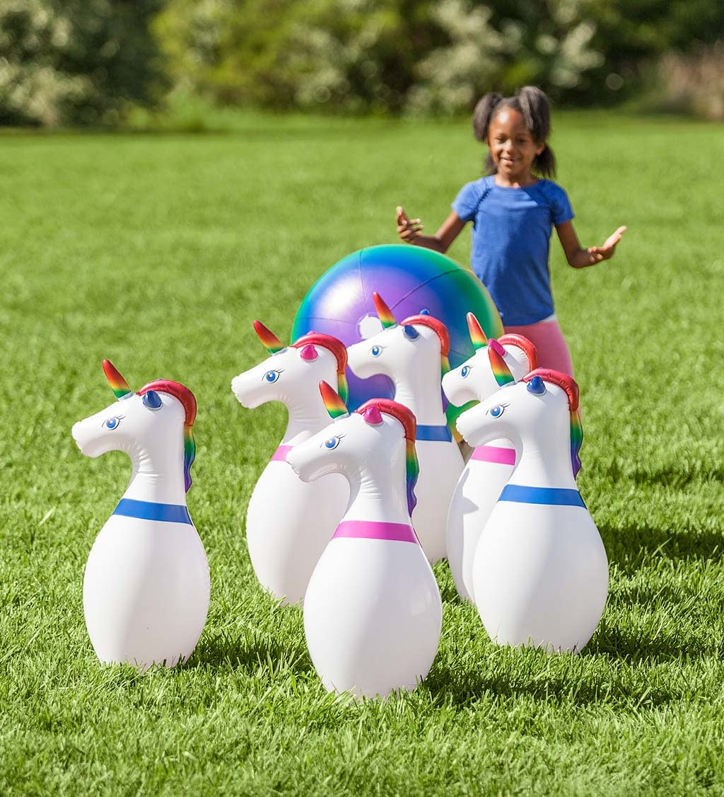 Giant Inflatable Unicorn Bowling Game-2