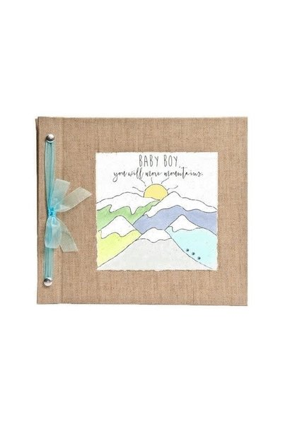 Baby Memory Book You Will Move Mountains Blue