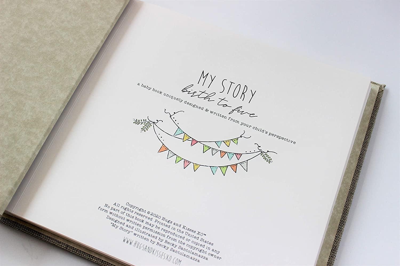Baby Memory Book Dream Wish Love Blue-3