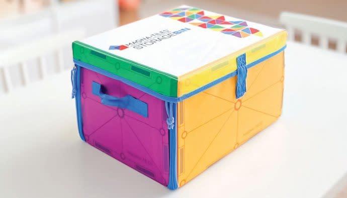 Magna-Tiles Storage Bin and Playmat-1