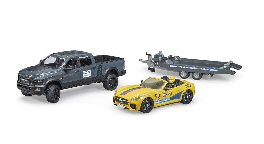 Bruder Ram Truck w/Roadster Racing Team-2