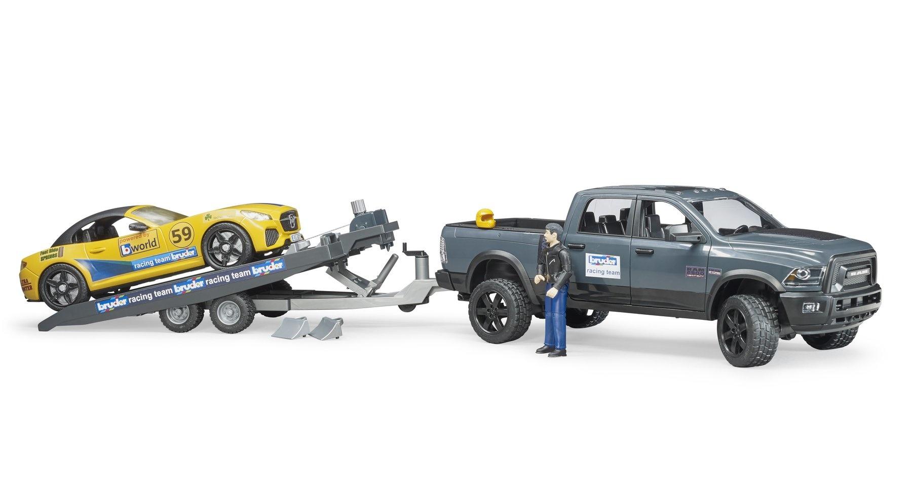 Bruder Ram Truck w/Roadster Racing Team-3