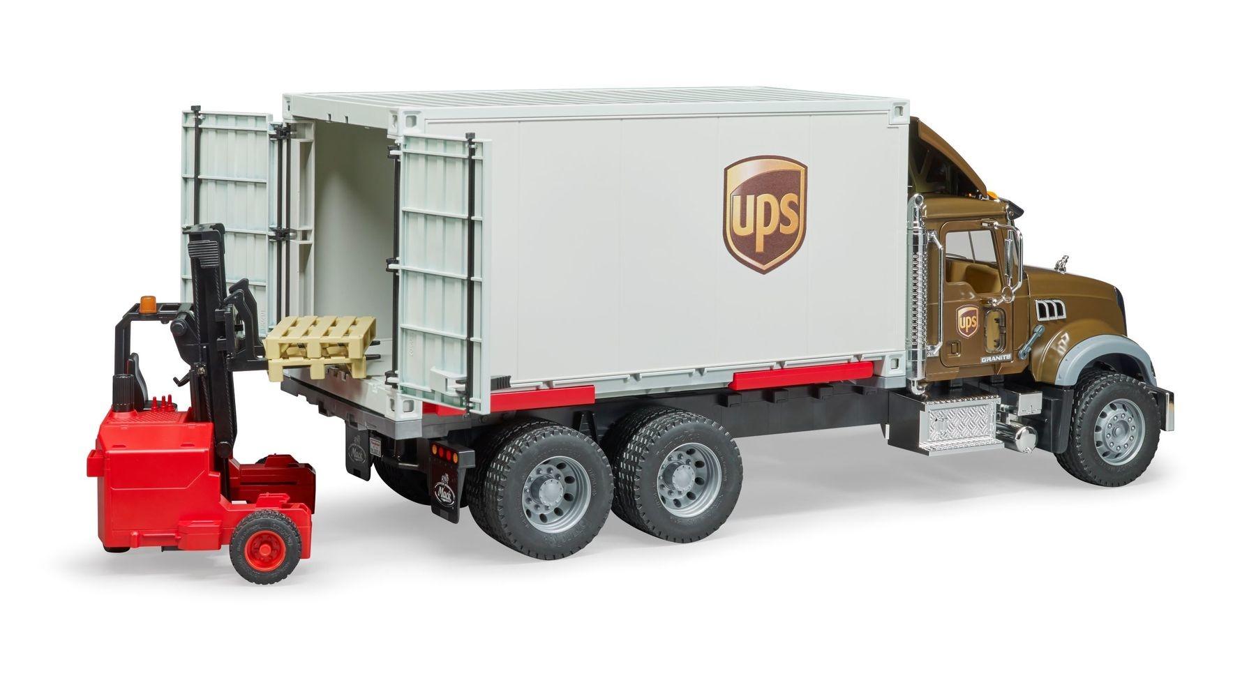 Bruder UPS Mack Logistik Truck-5