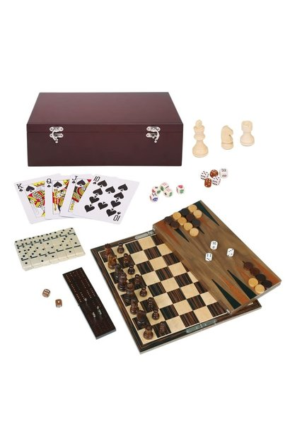 Ebony Wood Game Set 7 in 1 Set