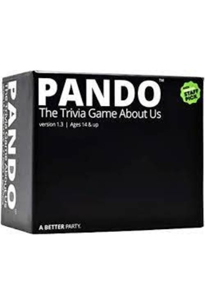 Pando The Trivia Game About Us