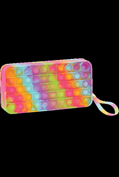 Rainbow Tie Dye Popper Pencil Case