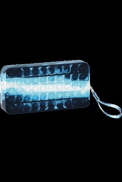 Blue Tie Dye Popper Pencil Case