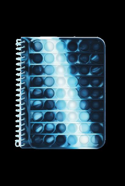 Blue Tie Dye Popper Journal