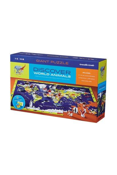 Discover World Animals Puzzle + Play