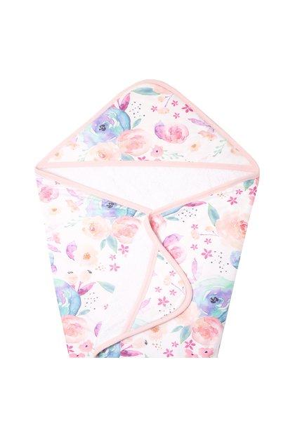 Knit Hooded Bath Towel Bloom
