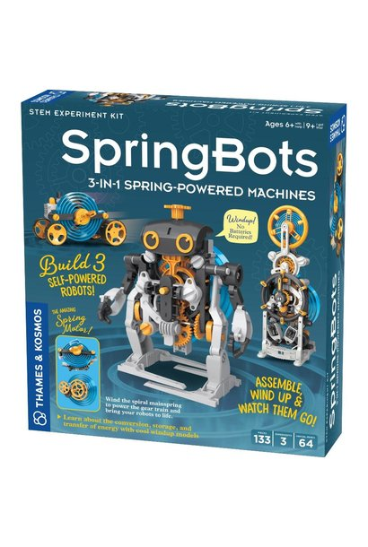 SpringBots 3 in 1 Spring Powered Machines